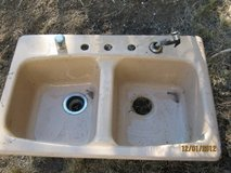 cast iron enamel kitchenb sink in Ruidoso, New Mexico