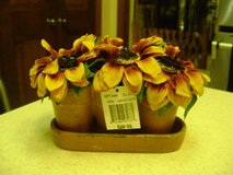 Mini Ceramic Sunflowers In Clay Pot - NWT in Kingwood, Texas