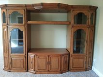 Hawthorn 5 pc. Solid Oak Entertainment Center with matching end tables in GREAT condition in Fort Knox, Kentucky