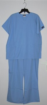 Women's Scrubs: Size M Top, L Pants, Blue Mist Cherokee Workwear in Ramstein, Germany