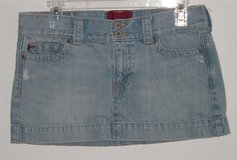 hollister by abercrombie semi stressed denim jean mini skirt womens 5 juniors in Joliet, Illinois