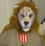 Rubber Lion Mask in Travis AFB, California