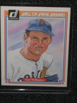 1993 Donruss Hall of Fame Hereos - Ted Williams Baseball Card in Spangdahlem, Germany