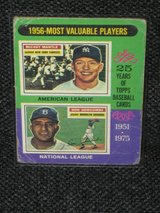 1975 Topps MVP Mickey Mantle & Don Newcombe Baseball Card in Spangdahlem, Germany