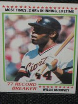 1978 Topps Willie McCovey Baseball Card in Spangdahlem, Germany