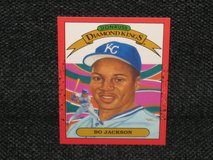 "1989 Donruss ""Diamond Kings"" Bo Jackson Baseball Card in Spangdahlem, Germany"