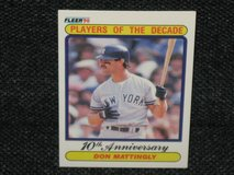 """1990 Fleer Don Mattingly """"Players of the Decade-10th Anniversary"""" Baseball Card in Spangdahlem, Germany"""