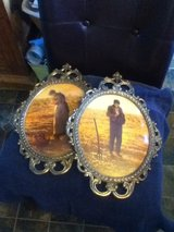 Vintage Metal Man & Woman Antique  2 Piece Picture Set in Fort Campbell, Kentucky
