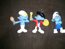 Smurf's ornaments lot in Houston, Texas