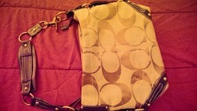 BEAUTIFUL STYLE AUTHENTIC COACH PURSE BROWN & GOLD in Oceanside, California