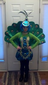 Girls Peacock costume teen sz 13-16 in Beaufort, South Carolina
