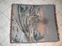 winter scene Afghan throw 58 x 48 in Conroe, Texas