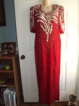 Red Sequin and Bead Ball Gown in Greenville, North Carolina